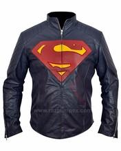 Superman- Man of Steel Midnight Blue Faux PU Leather Jacket