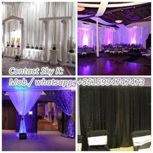 stage wedding glass stagedecoration, led lighted stage backdrop