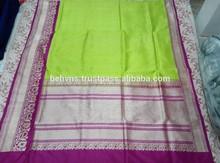 Pure Silk Indian Hand Loom Woven Sarees , SARI, SHARI