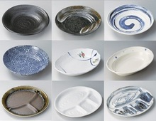 Reliable stoneware round plate for Japanese tableware, dinnerware ceramic completed set available