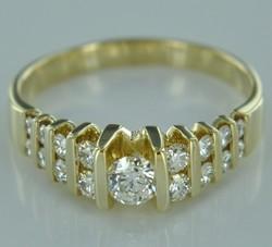 14k Yellow Gold .90 ctw VS1 - SI1 F Diamonds Women's Ring