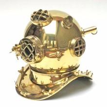 Brass diving helmet Mark V - US navy divers helmet