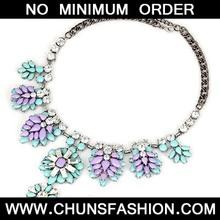 Blue Tree Leaf Diamond Necklace