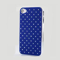 Phone Case Blue Color DiamondSky Case for iPhone 4S & 4
