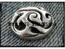 Tribal Bws-30 Sterling Silver Biker Wallet Snap