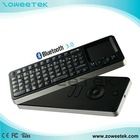 Mini Wireless IR Learning Remote Controller portable usb bluetooth keyboard with Touchpad(ZW-52006BT)