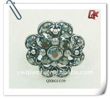 Lastest fashion jewelry big flower rings with rhinestone (QXRG111139)