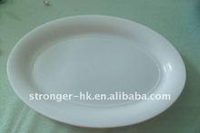 PP plastic white plate
