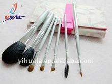 Silver series goat hair make up artist brush set cosmetic brush