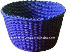 Eco-friendly cute cheap flexible plastic rustic storage basket