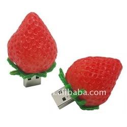 Fruit strawberry shaped original flash drive.usb stick,pen drive 1/2/4/8/16/32gb