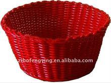 Storage basket!Eco-friendly cute cheap red oval flexible plastic basket