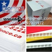 Polypropylene PP Fluted Corrugated Plastic Board