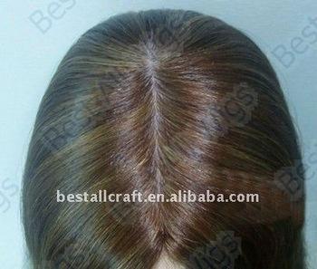 silk top invisible scalp wigs