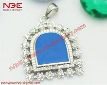 925 silver diamond pendant set designs with AAA zircon stone