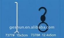 Black Round Plastic Ties Hanger / Adornment Show Hanging Hook