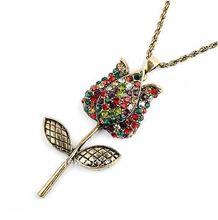 vintage rose flower necklace