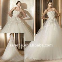 J0238 New Model 2012 empire tulle wedding dresses for pregnant women