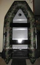 CE 2.3-4.7m CAMO color PVC inflatable aluminium boats usde
