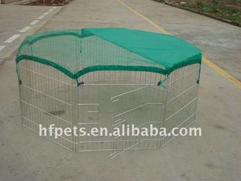 pet play pen with green net
