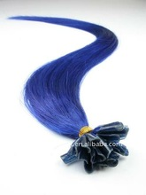 new fashion 100% Pre-Bonded_nail_blue color hair extentions
