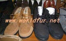 BY-boots-g001 shearling double face sheepskin boots,sheepskin shoes