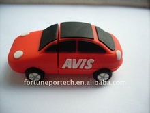 sedan/car shape usb flash drive PVC material