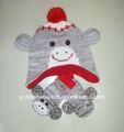 محبوك القبعات الشتاء الحيوانية وبحرارة للأطفال