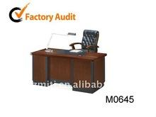Wooden executive computer desk