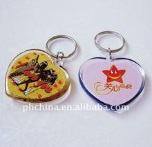 PE-461 2012 Love Shaped Plastic Acrylic Keychain