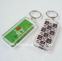PE-462 Rectangle Plastic Acrylic Keychain Gift