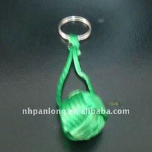 Fashion plush knot keychain Monkey Fist Nautical Clip keyring floating fisherman key chain ring