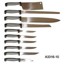 10 Piece Rubber Handle Kitchen Knife Set