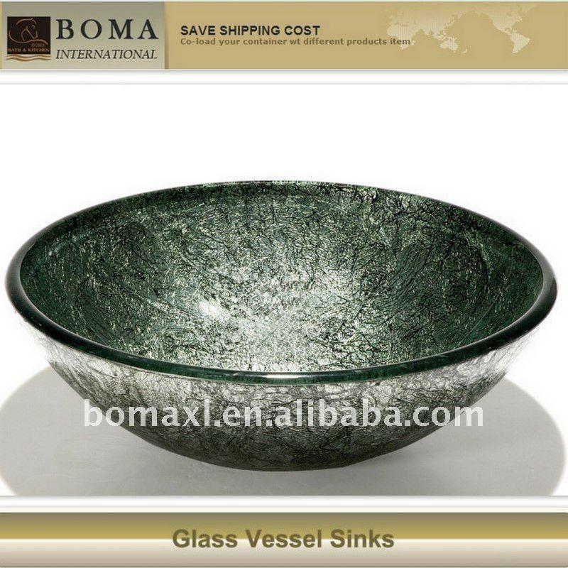 Verde Bo de vidro pia do banheiroPias para banheiroID do produto502058827 -> Cuba Banheiro China