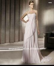 2012 Elegant chiffon strapless applique with lace design baju pengantin XZ-wd1518