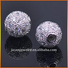 Brass CZ Pave Bead,Samples Available-JB1302