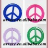 Peace Sign Plastic Jewelry Beads