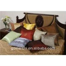 satin fabric cushion and pillow