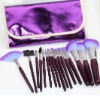 16 pcs makeup brushes set cosmetic brush with purple bag