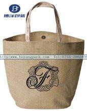 natural color shopping jute bag