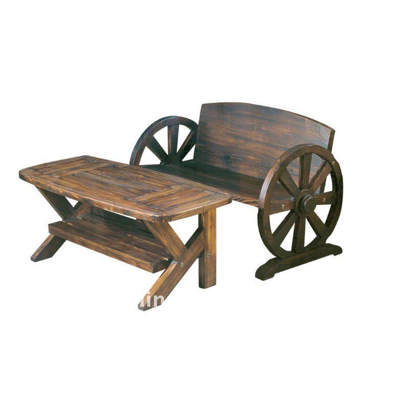 Table de jardin en bois avec banc integre maison design for Fabriquer un banc de jardin