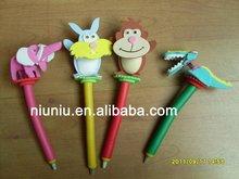 EVA foam promotional animal header pen