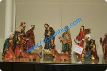 polyresin nativity set 2012 new arrival resin christmas gift set Factory Sale