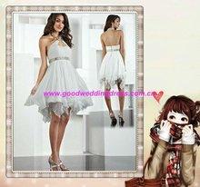 2012 Best Selling Halter Sleeveless Beaded Knee Length Sleeveless Homecoming Dresses Party Gown