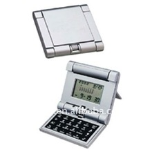 mini desktop digital calculator with calendar and world time