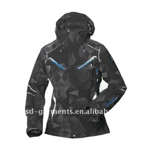 ladies ski jackets with overalls prints color for winter season 2012