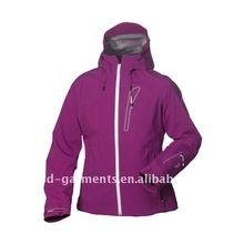 ladies ski jackets with purple color for winter season 2012