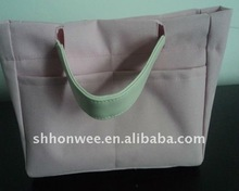 pink fashion bag with PU handle
