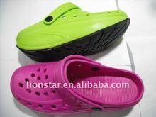 Small 16 round holes high heel women EVA garden clogs shoes