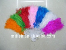 Party deluxe rainbow feather fan (promotion gift) MW-0156